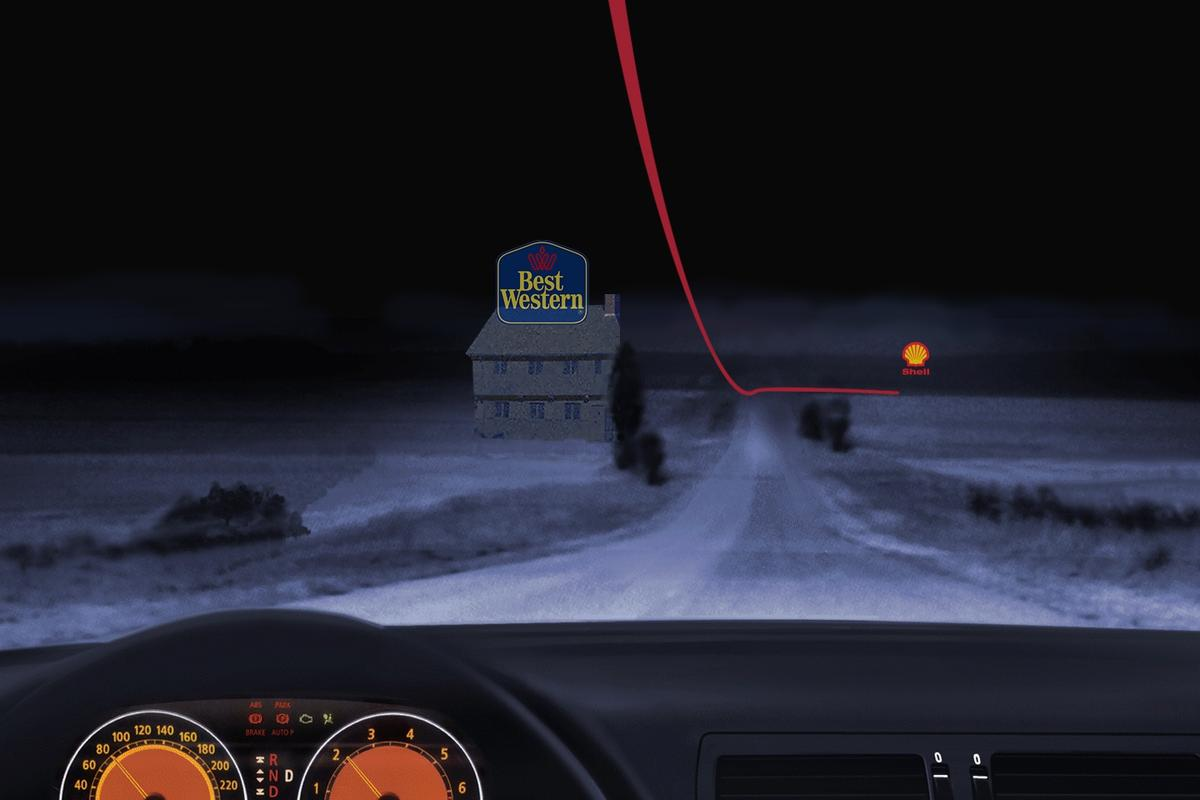 Simulated display for the True3D satnav system (Image: Making Virtual Solid)
