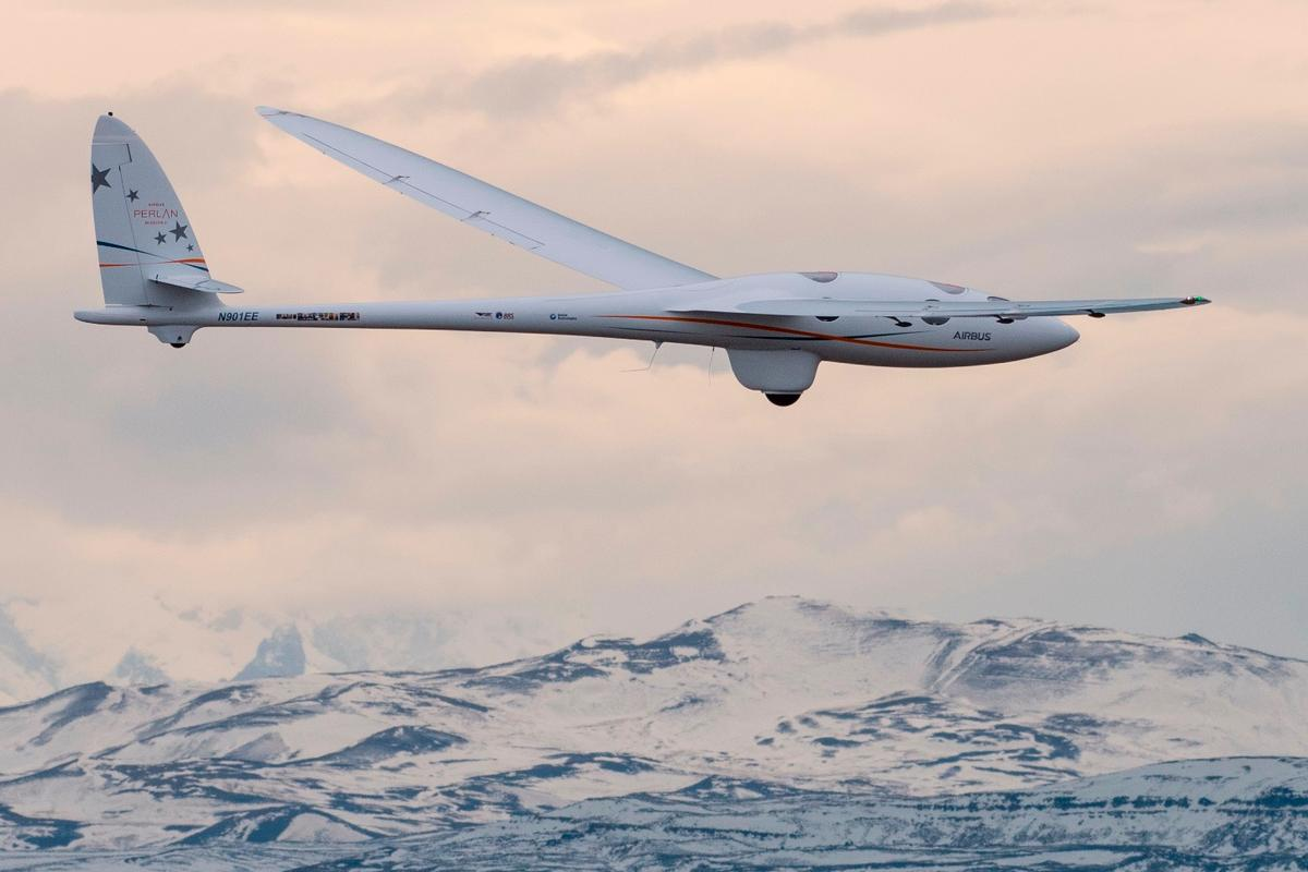 The Airbus Perlan Mission II glider over the Andes