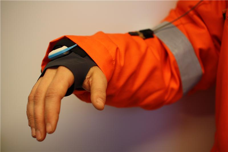 The ColdWear demonstration sleeve