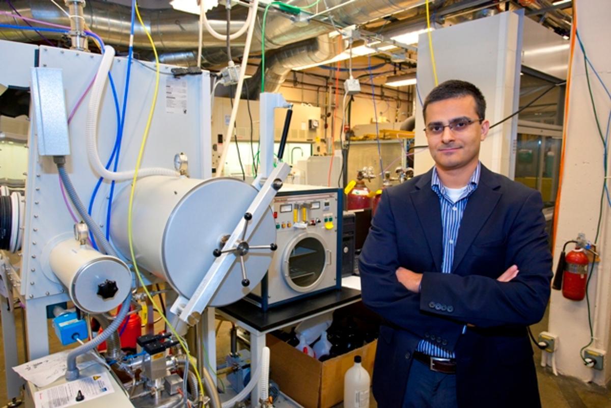 Chemist Ali Javey, who led development of the tapered nanopillars (Photo: Berkeley Lab)