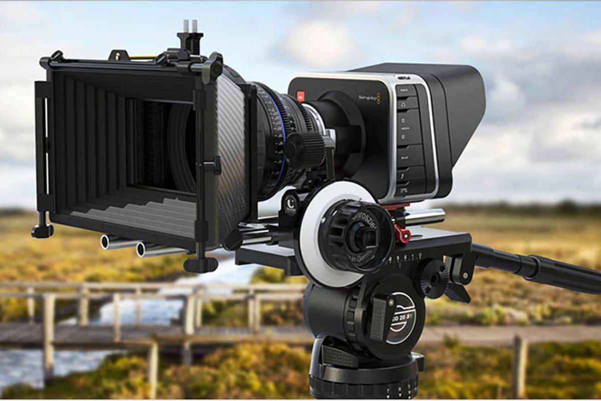 Blackmagic Design Digital Cine Camera posing in a field