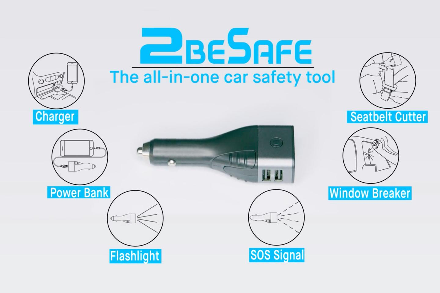 A car emergency multitool that's always within reach