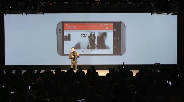 HTC touts its Boomsound audio system