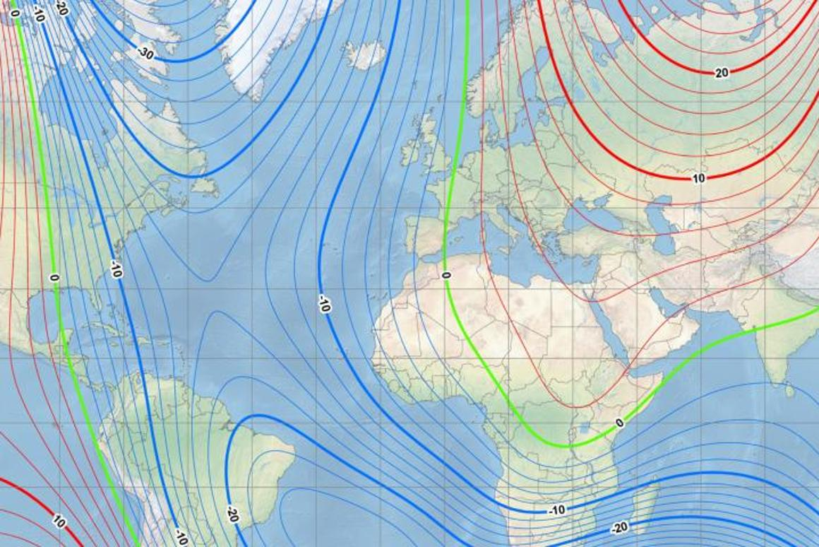 An update to the  World Magnetic Model (WMM) was required early due to the north magnetic pole moving faster than expected