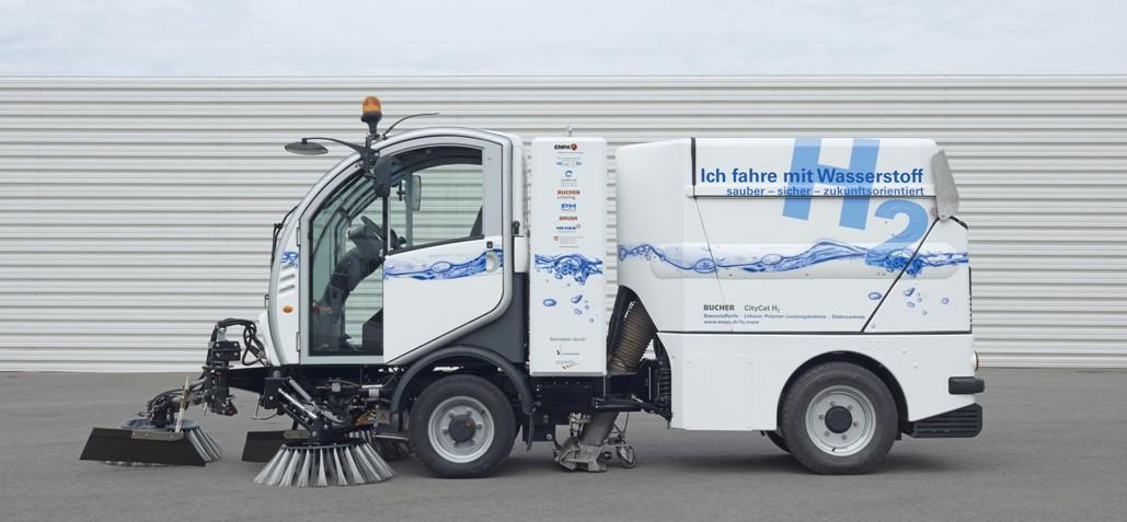 The hydrogen-powered CityCat H2 that is being trialed on the streets of Basel, Switzerland