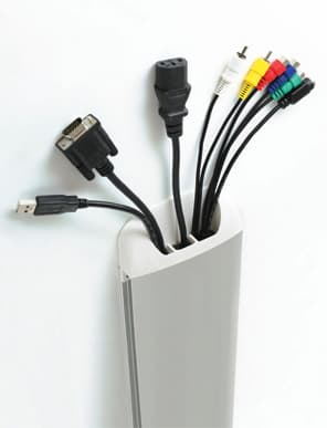 The Atdec Telehook TH-AN-CM is a slim profile cable management solution that reduces visual clutter and holds up to four shelves