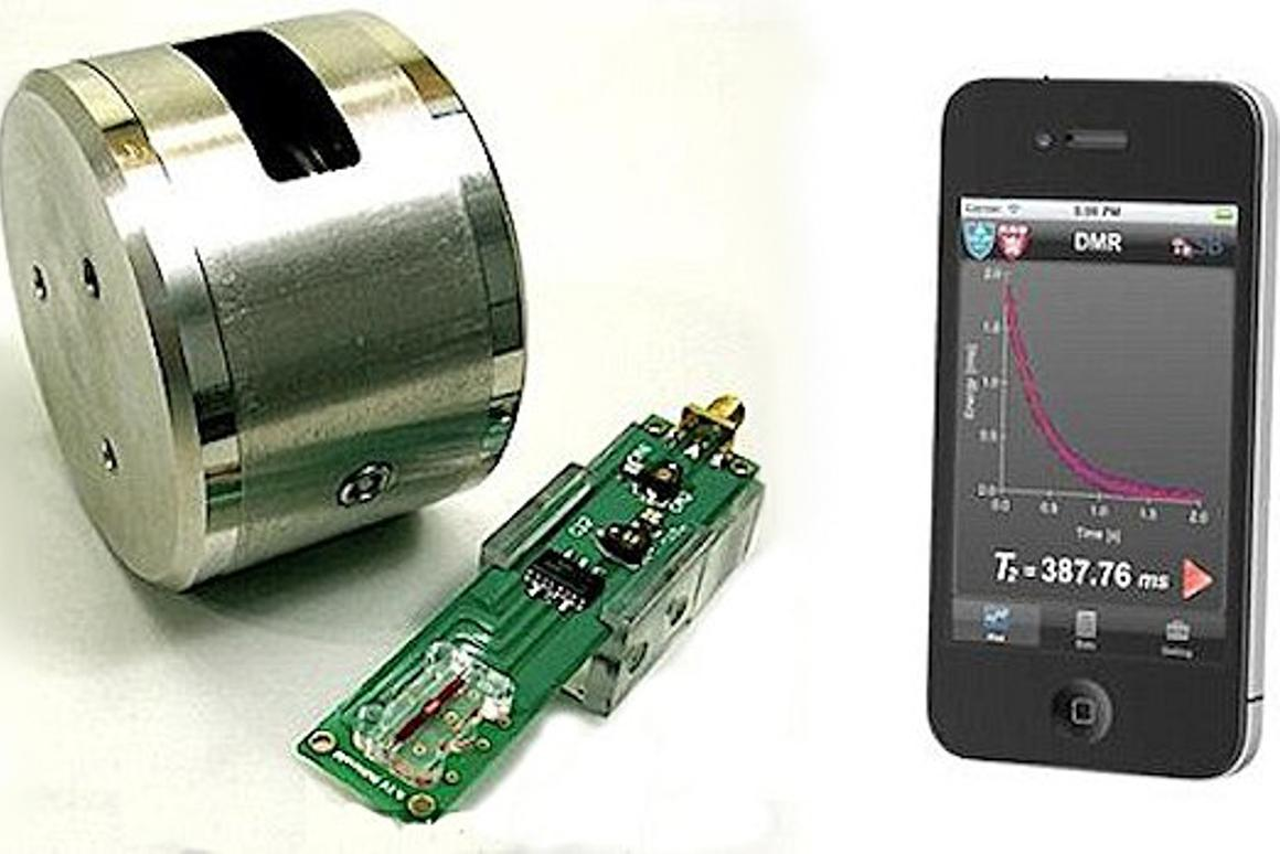 The Massachusetts General Hospital handheld diagnostic magnetic resonance (DMR) device can detect cancer in an hour