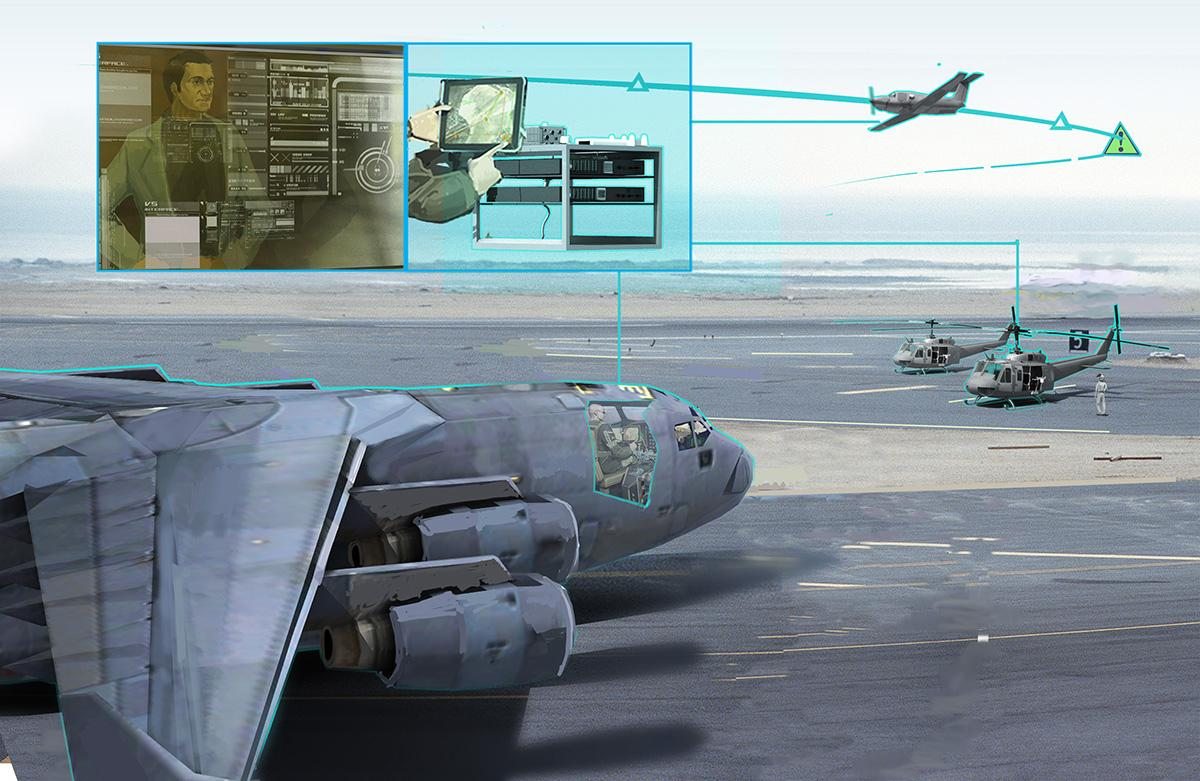 Artist's impression of ALIAS, a drop-in automated flight control system designed to make the pilot's life simpler