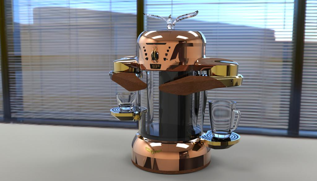 """Dubbed """"La Fenice"""", the fully functional prototype makes both traditional Italian espresso and American filter coffee"""