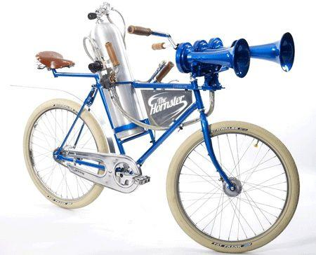 The Hornster is a custom-built bike that is designed around what is billed as the world's loudest bicycle horn