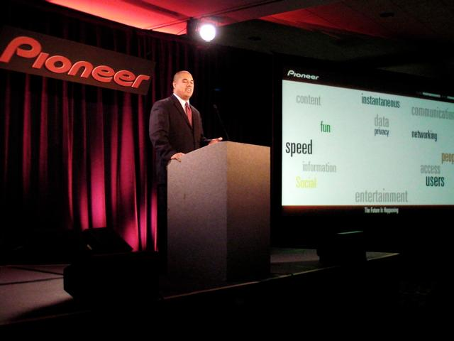 Ted Cardenas, Director of Product Planning for Pioneer Electronics at CES 2010