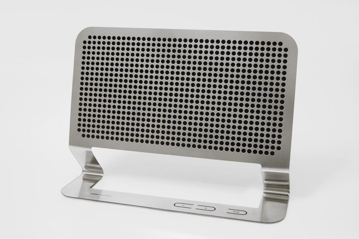 """The """"flat boombox"""" - though really it's a speaker"""