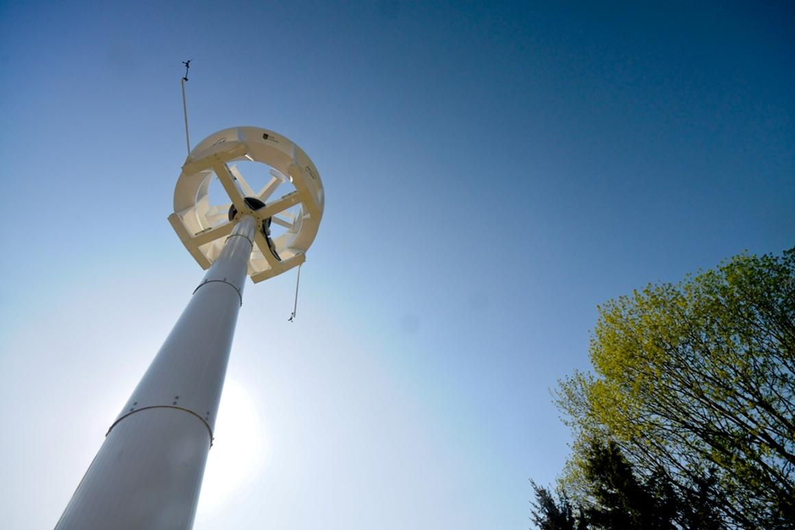 The turbine is particularly well-suited to the gusting winds of inner cities