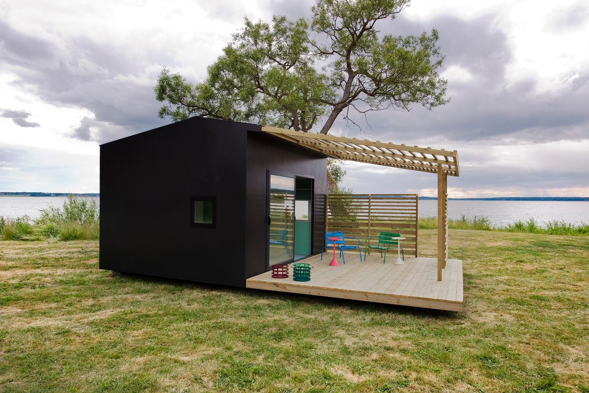 Mini House is a functional prefabricated modular home that comes delivered flat-packed and can be constructed on-site in just two days (image: Andy Liffner)