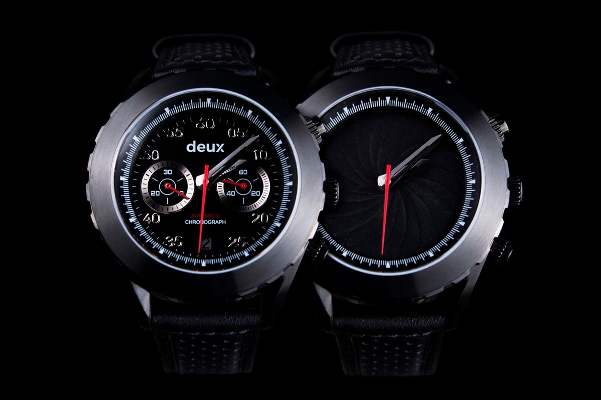 The Deus Collection watches can change dramatically with a twist of the bezel