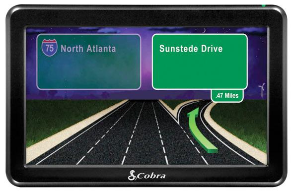 The night viewing screen with Junction View on the Cobra 7750 Platinum