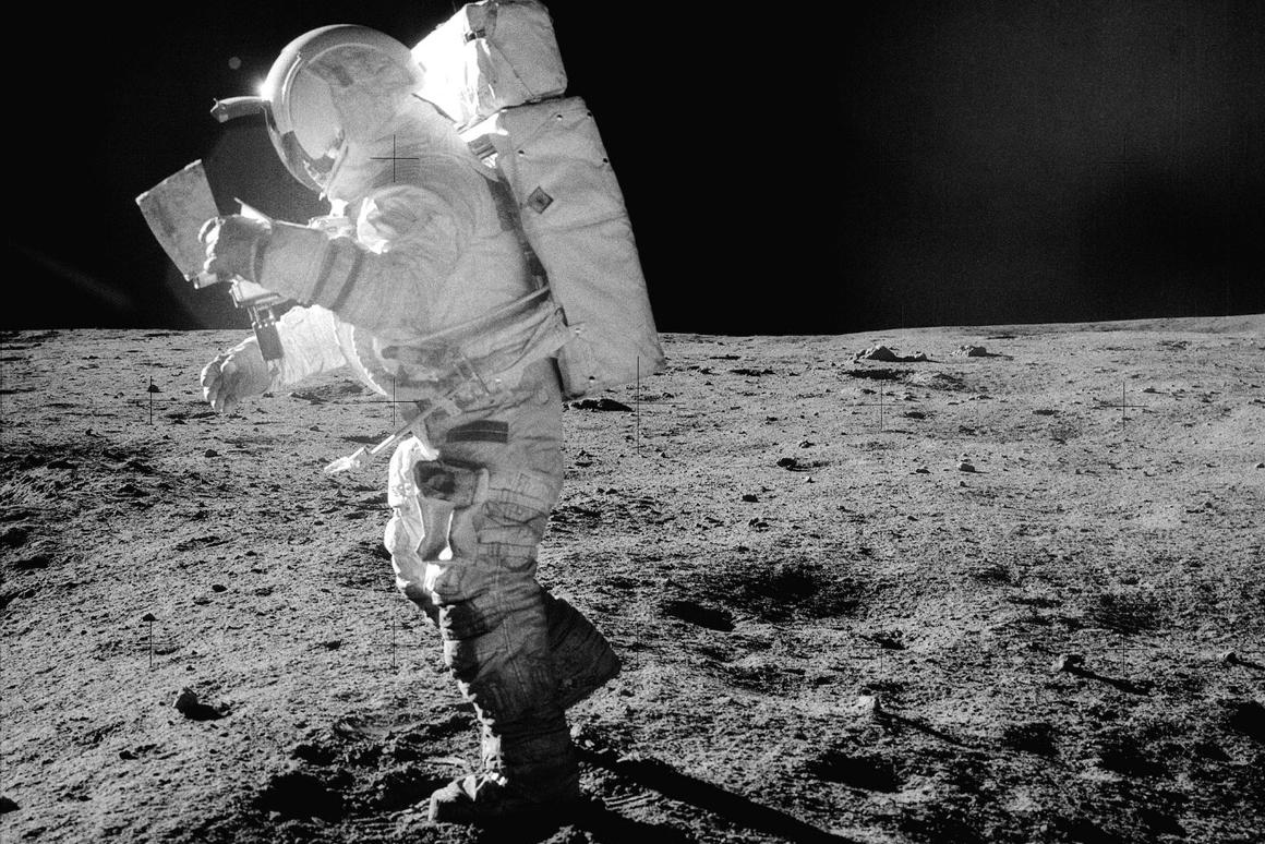 Japan's space agency has expressed interest in sending astronauts to the Moon by 2030 (NASA astronaut Edgar Mitchell pictured)