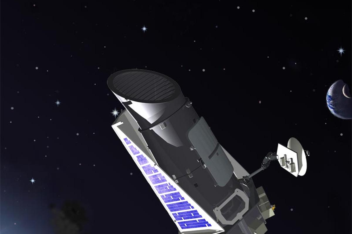 Artist's concept of the Kepler space telescope (Image: NASA)