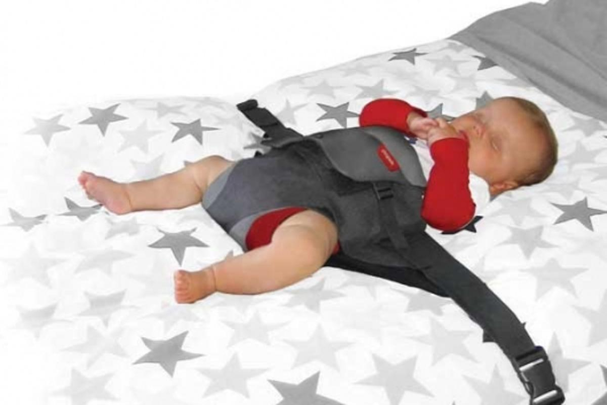 Wriggle Wrapper keeps baby secure whilst sleeping...