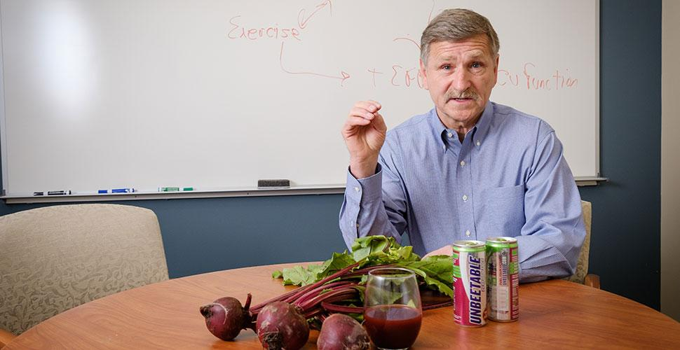 W. Jack Rejeski, study co-author, says that beetroot juice before exercise might improve brain performance in older folks