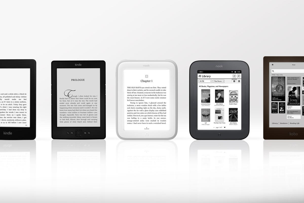 Gizmag breaks down the top e-readers of the 2013 shopping season