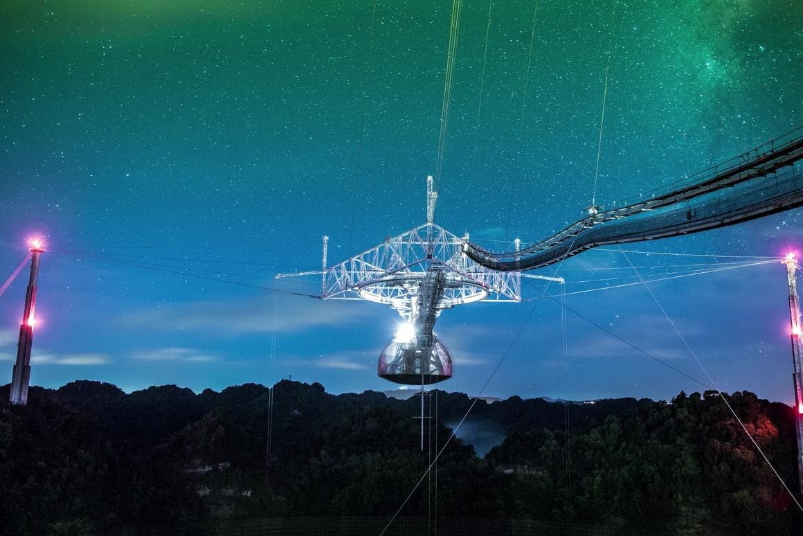 The Arecibo Observatory, which was used to send the original Arecibo Message in 1974