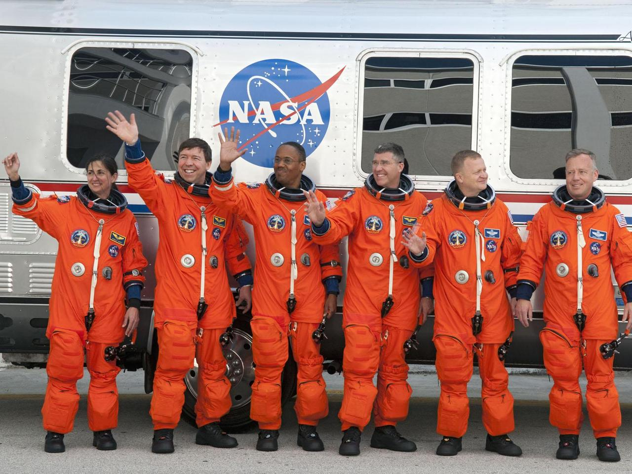 The crew of the final Space Shuttle Discovery STS-133 mission (Image: NASA)