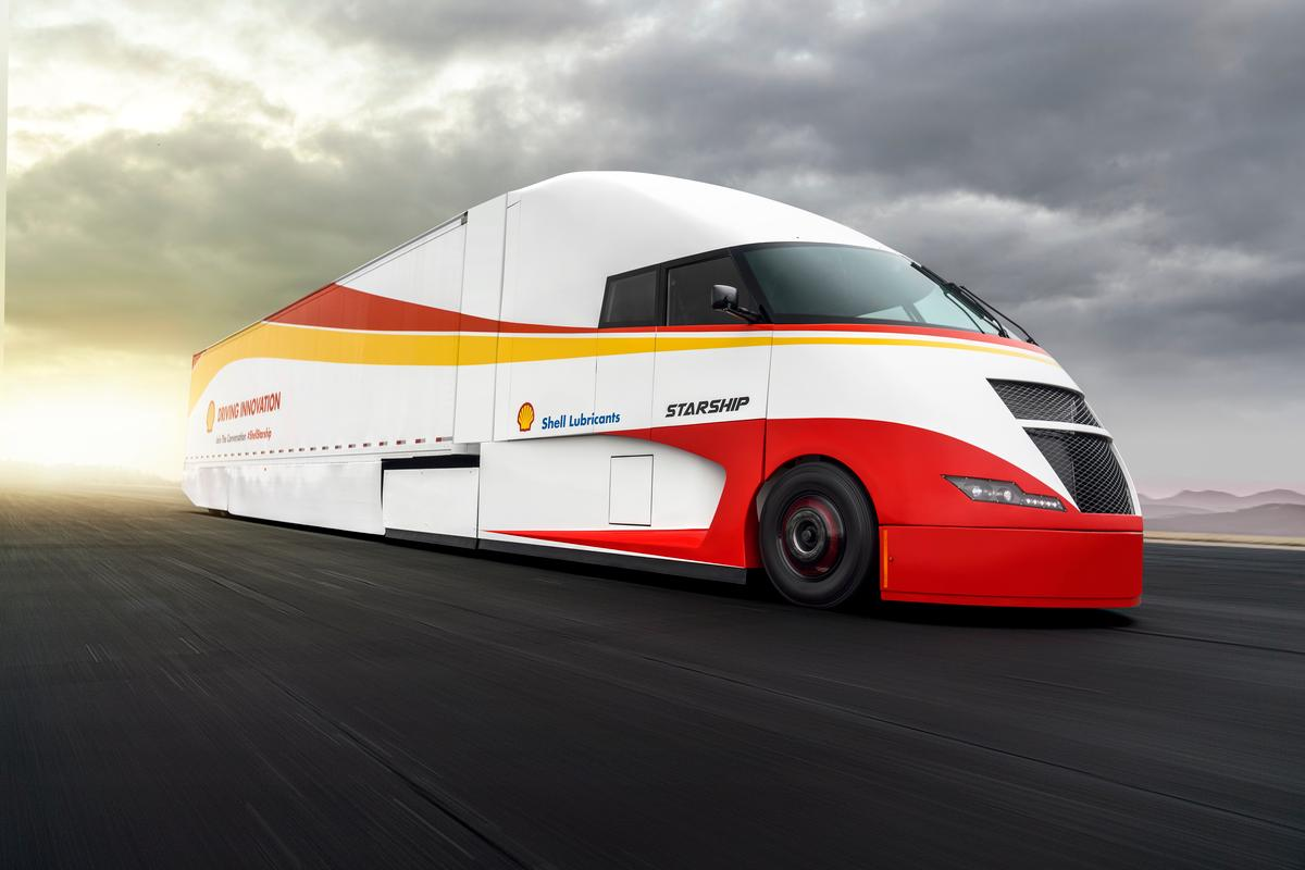 The Starship Class 8 concept tractor trailer will begin a US coast-to-coast journey in May