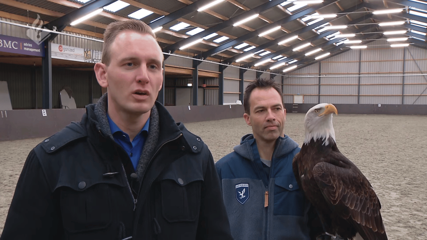 Dutch police have enlisted the help of a raptor training company called Guard From Above to help safeguard sensitive airspace