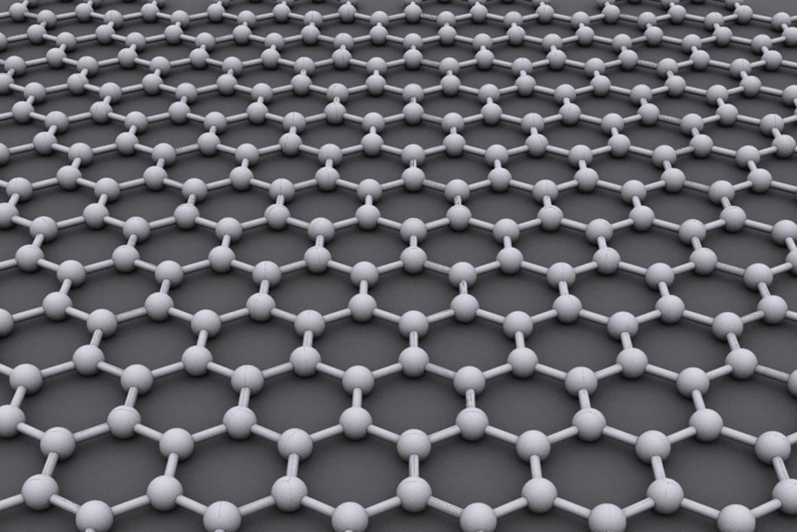A single layer of graphene (Image: AlexanderAlUS via Wikipedia)