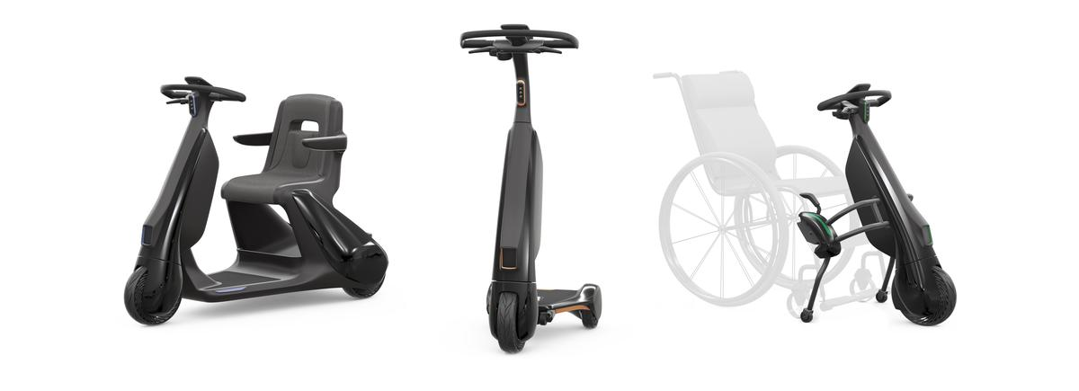 "Toyota has also released plans for several ""walking area"" last-mile electric scooters, including one that clips onto a wheelchair"
