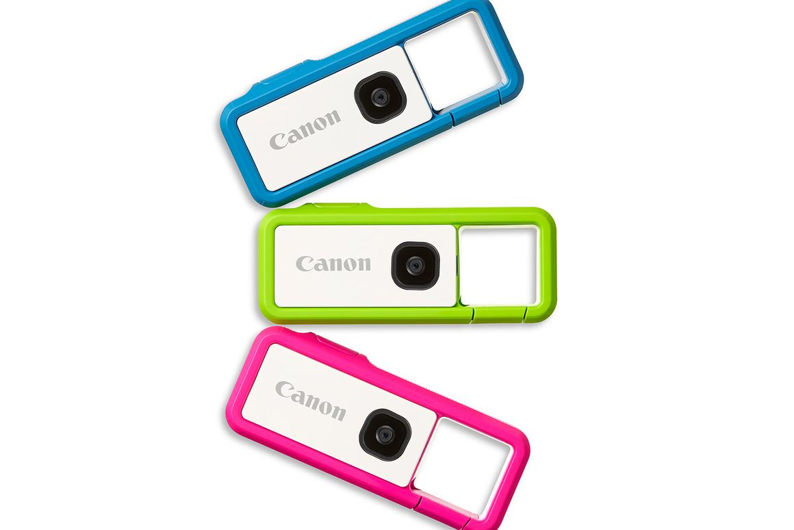 Canon's colorful Ivy Rec clippable Outdoor Camera goes on general sale later this month