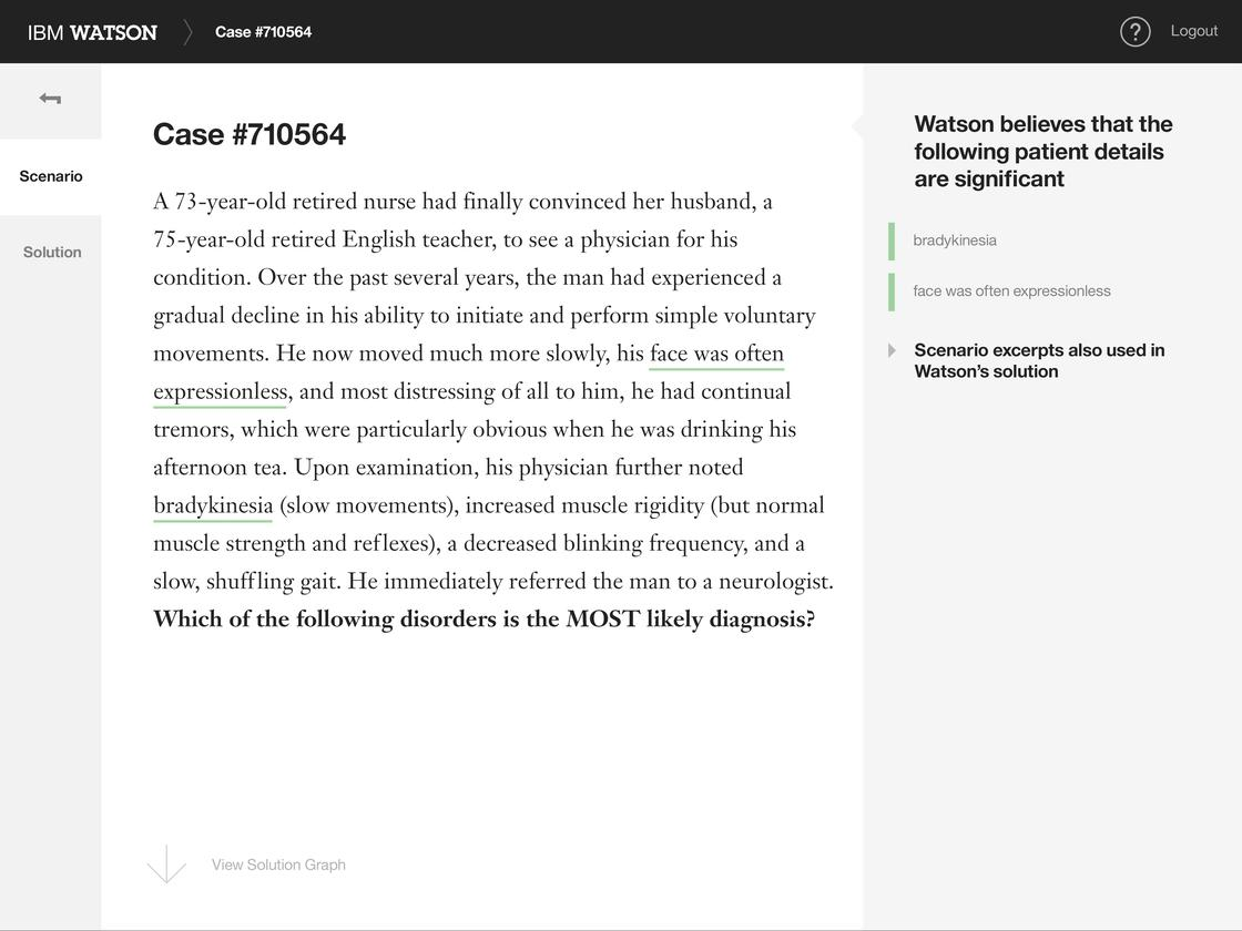WatsonPaths uses a transparent reasoning path