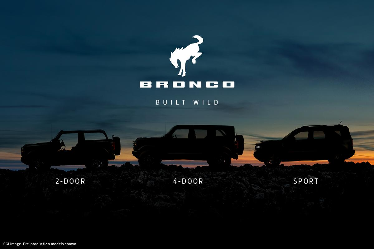 Ford will debut all three new Bronco models on Monday, July 13