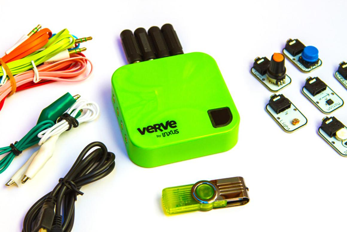 The Verve 2, along with some of its sensors and other peripherals