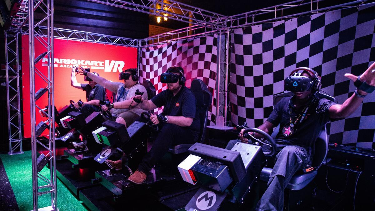 There's something grabbing about Mario Kart VR
