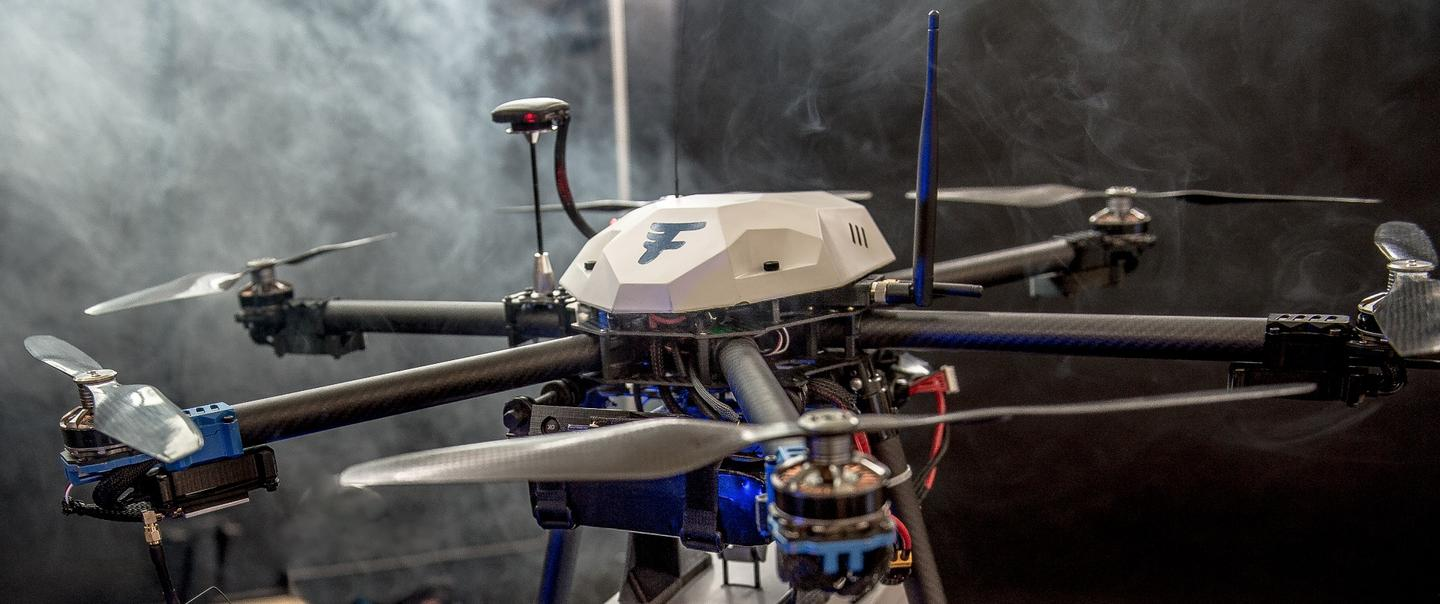 Flirtey drones made from carbon fiber, aluminium and 3D printed parts will complete the last leg are set to complete the first FAA-approved deliveries inside the US