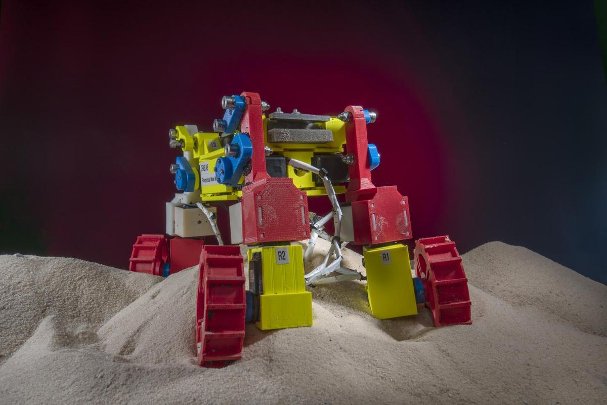 The Georgia Tech research team were investigating how they can prevent rovers from becoming stuck in sand or other fine materials when roaming the hills of Mars or the Moon