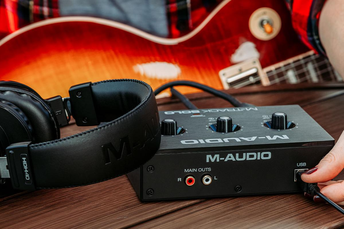 The M-Track USB interfaces are powered over USB, allowing for audio recording on the go