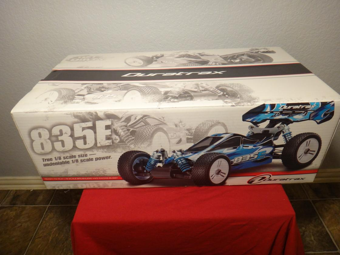 The Duratrax 835E R/C buggy comes fully assembled out of the box and costs US$399.99