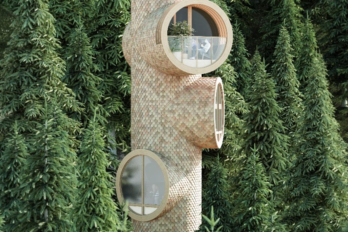 Modular off-grid house in the trees is child's play