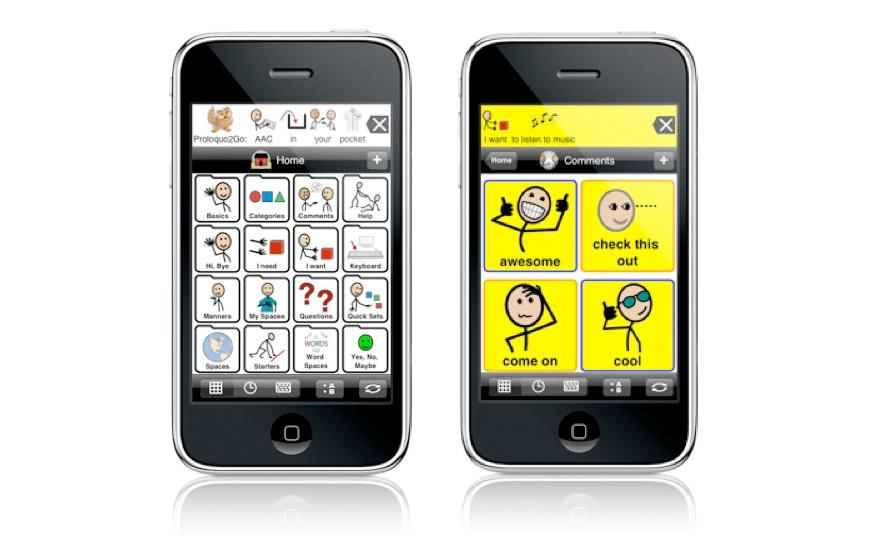 Proloquo2Go is an iPhone/iPad app that helps autistic children to communicate with others