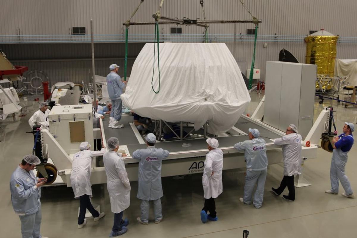 The ExoMars 2020 lander, shown here being packed for shipment