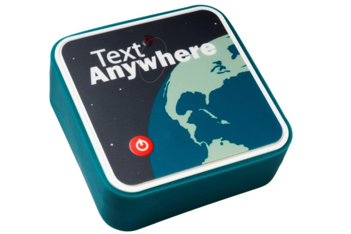 The Text Anywhere works on the Iridium satellite network to provide global text messaging capabilities