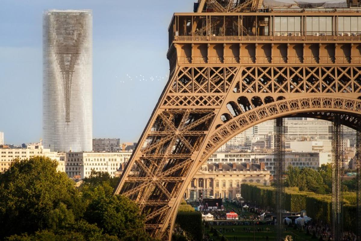 The highlight of the design is the way it flips Eiffel Tower upside down