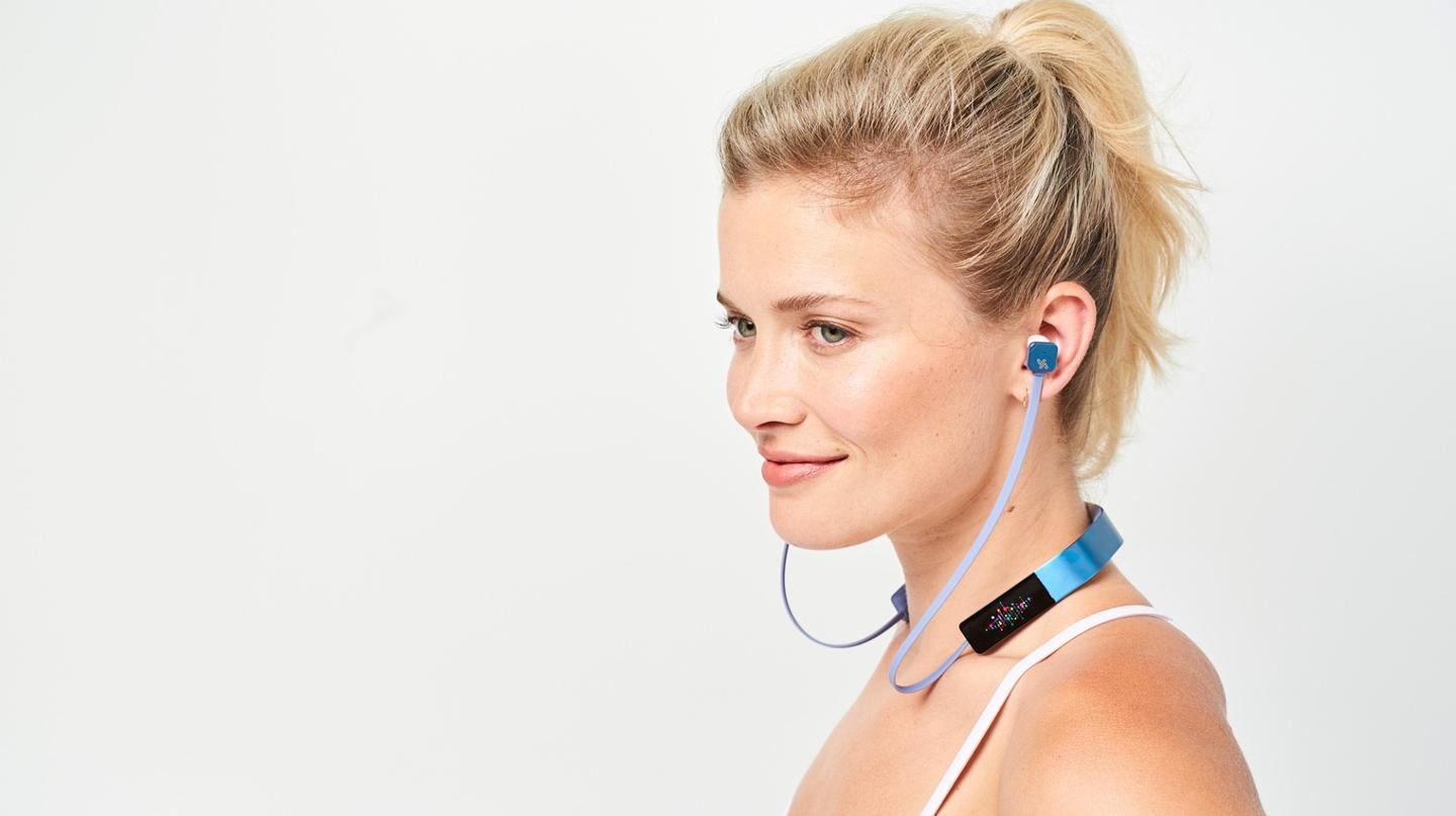 The headphones run for eight hours on a single battery charge