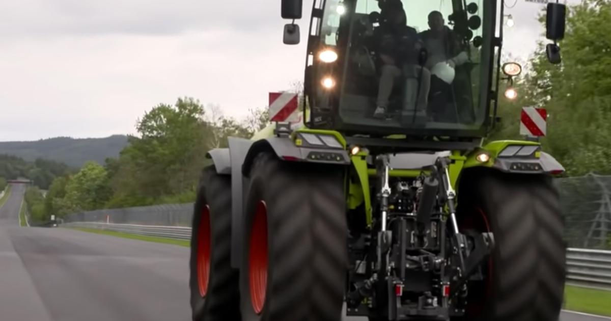 Claas concept tractor smashes Nurburgring record for farm equipment