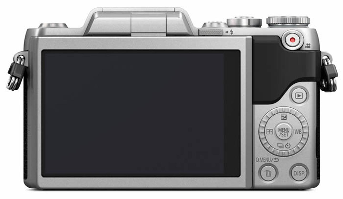 The rear 3-inch touchscreen monitor on the Panasonic Lumix GF7 has 1,040k dots
