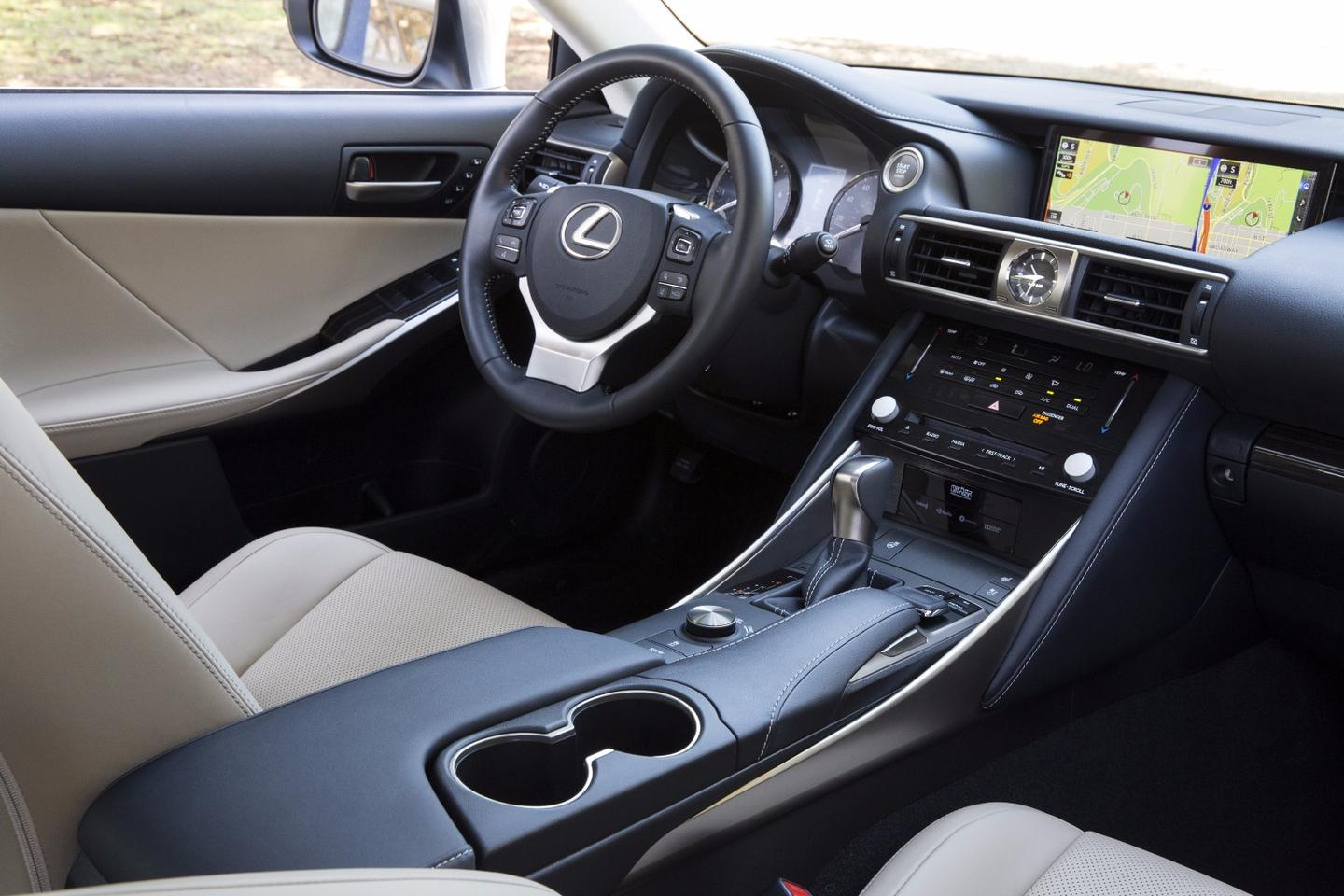 Lexus has tidied up the details on its ISinterior