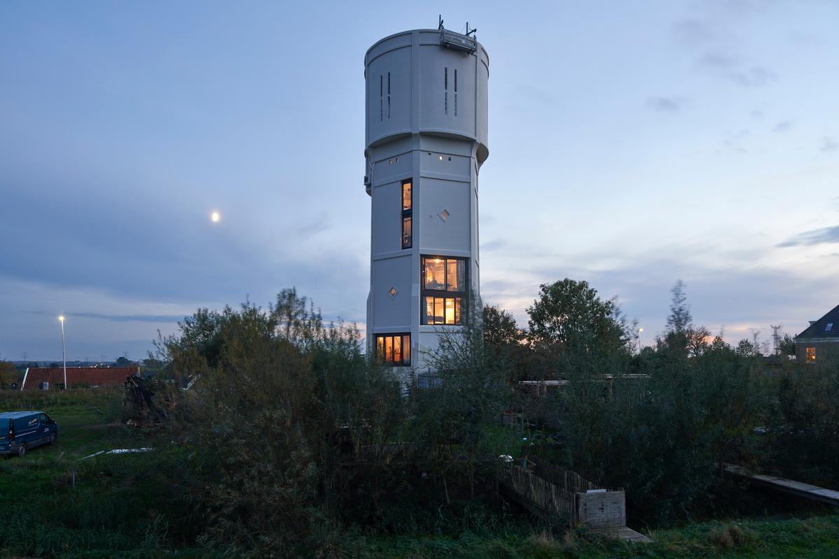 The water tower at the heart of the project was originally built in 1915
